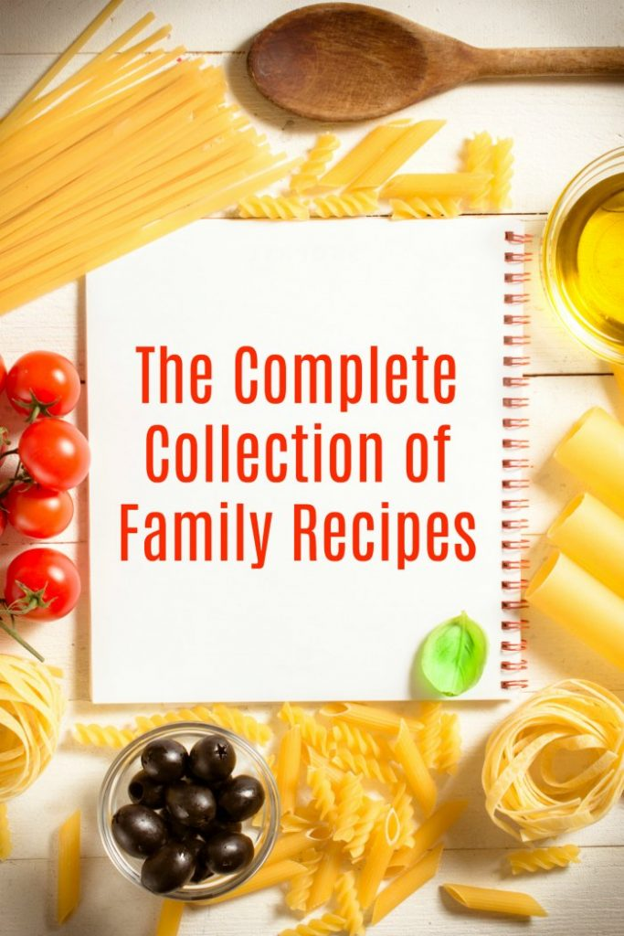 Complete Collection of Family Recipes on Mommy Evolution