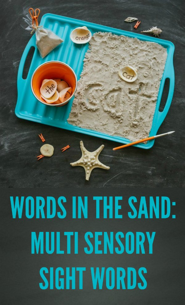 Words in the Sand: Multi Sensory Sight Words