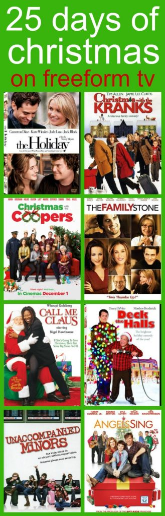 25 Days of Christmas Movies on Freeform TV for Grownups and Adults