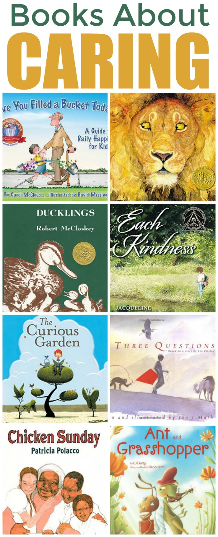 Teaching Children to Care with Books - Children's books About Caring | Mommy Evolution #reading