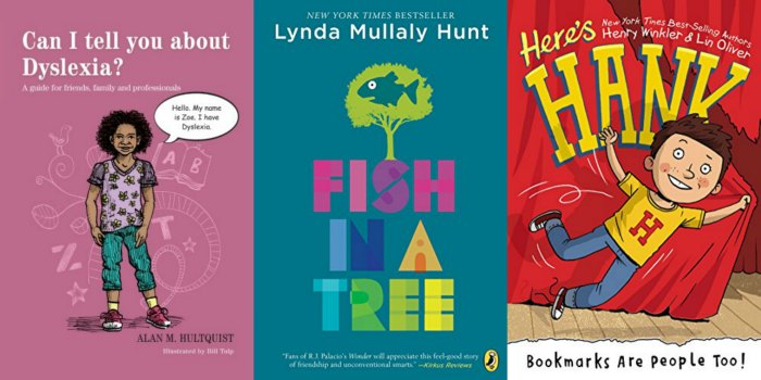 chapter books about dyslexia for kids