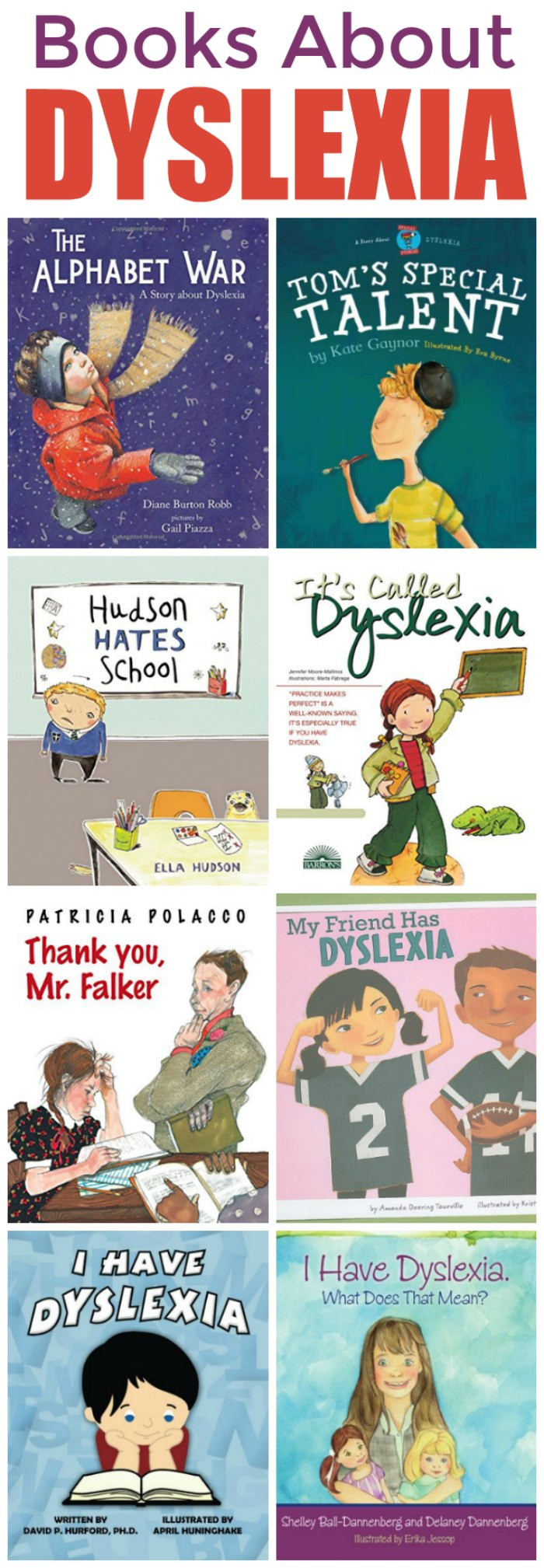 Dyslexia Books for Kids | Mommy Evolution #reading #dyslexia