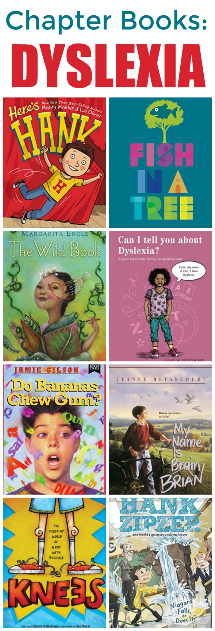 Dyslexia Chapter Books for Elementary and Middle School | Mommy Evolution #dyslexia #reading
