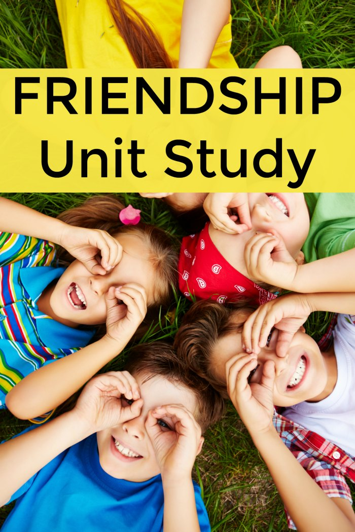 Friendship Unit Study Resources for Homeschool, Preschool and the Classroom + Childrens books about friendship | Mommy Evolution