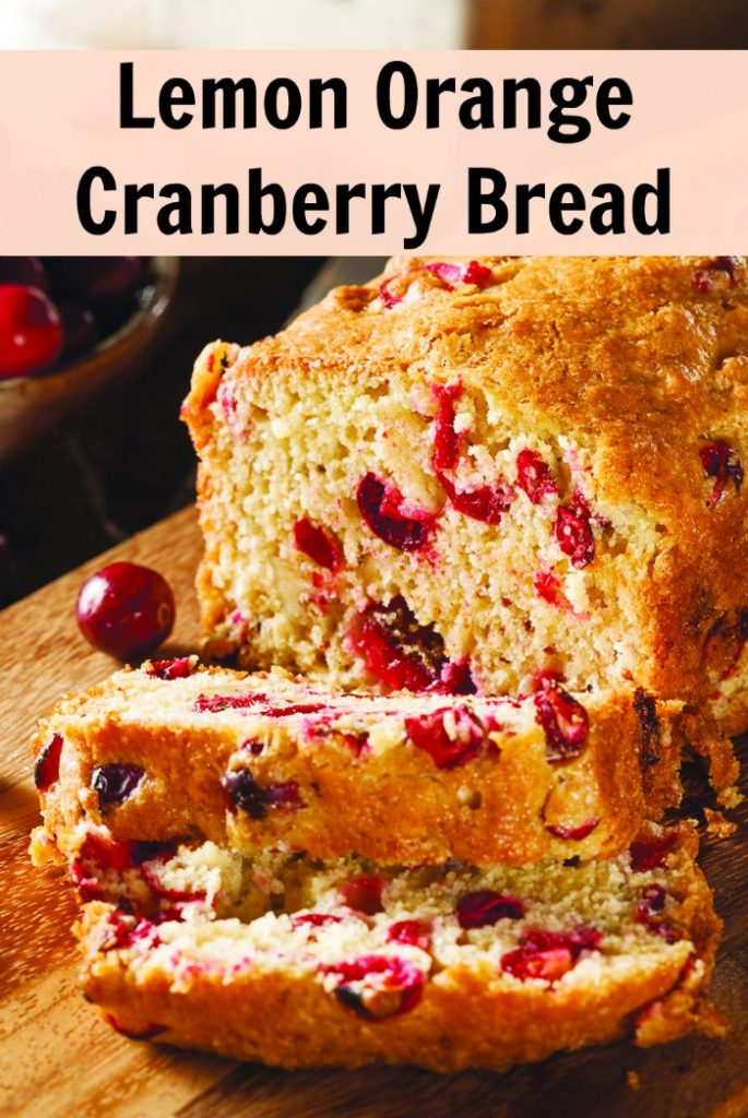 Lemon Orange Cranberry Bread Recipe - perfect combination of sweet and sour. Perfect recipe for the Christmas holidays! | Mommy Evolution
