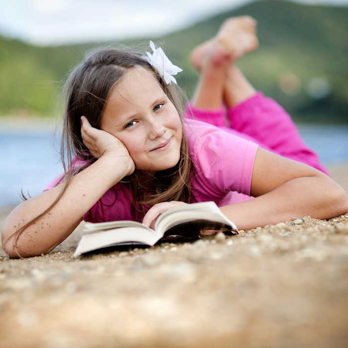 And make sure you bring books with you wherever you go this summer to make reading easy for your child.