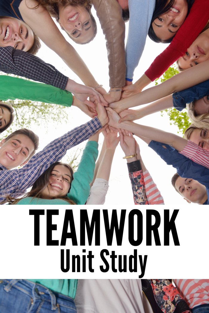 Teamwork Unit Study Ideas and Resources