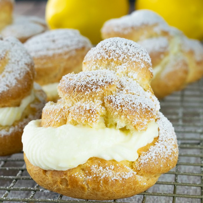 Lemon Cream Puffs Recipe