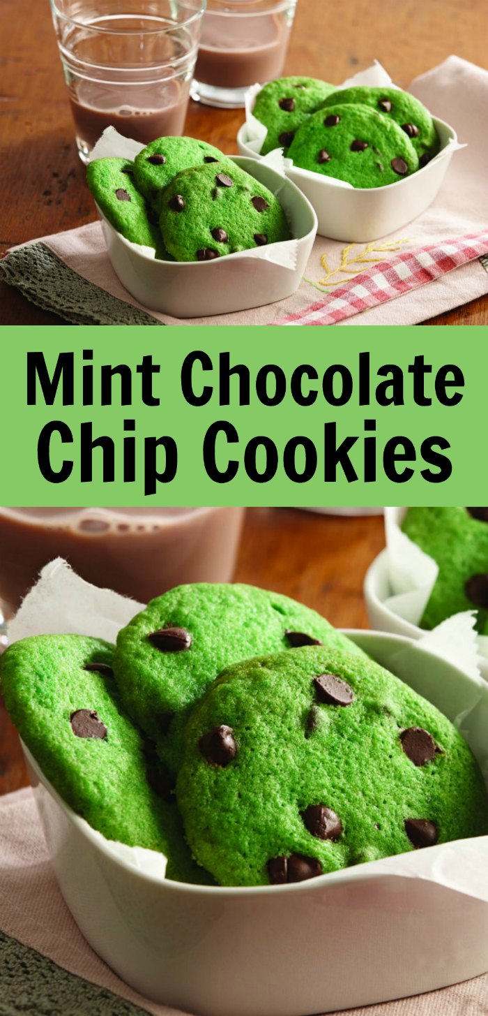 Mint Chocolate Chip Cookies from Scratch | Mommy Evolution