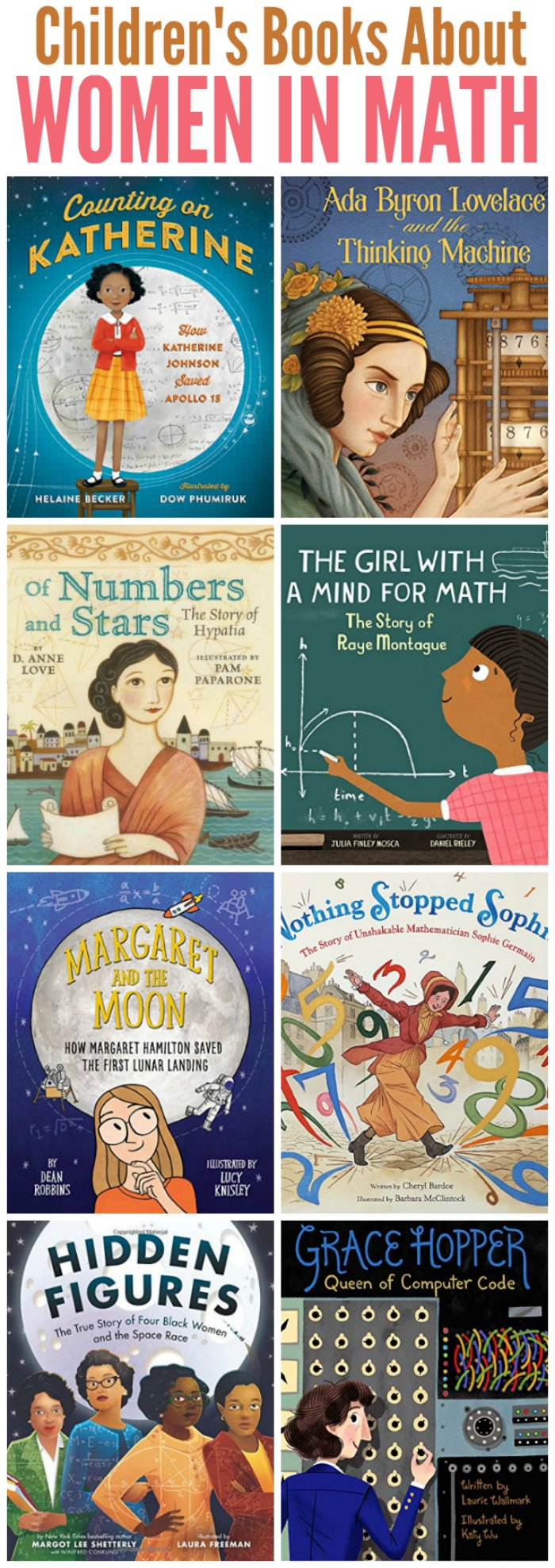 Children's Books about Women in Math and Coding | Mommy Evolution #womenshistorymonth #booksaboutwomen