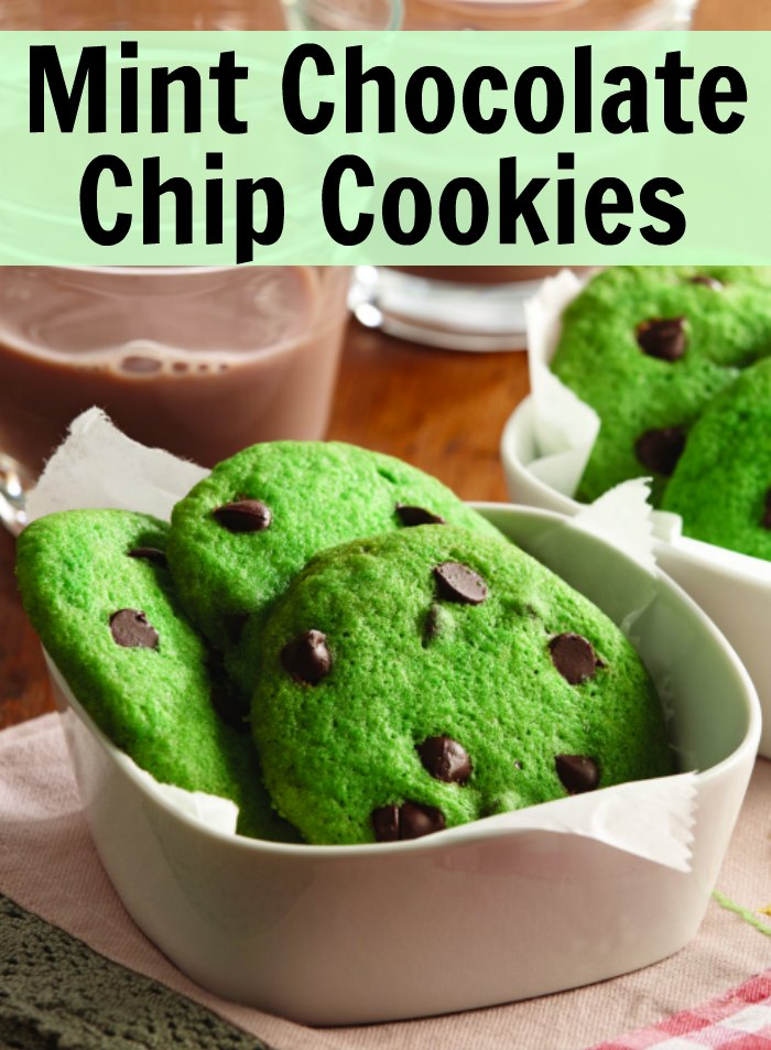 Mint Chocolate Chip Cookie From Scratch
