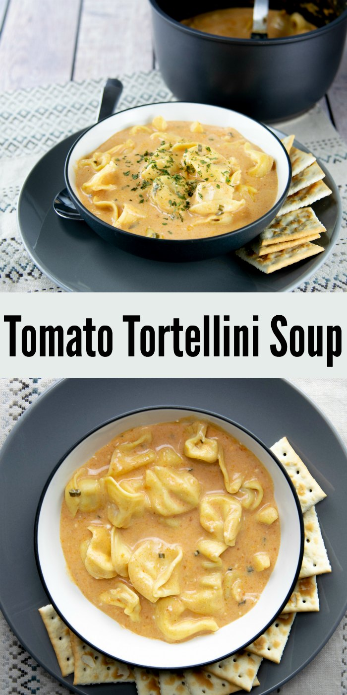 Easy Tomato Tortellini Soup - only 4 ingredients! | Mommy Evolution