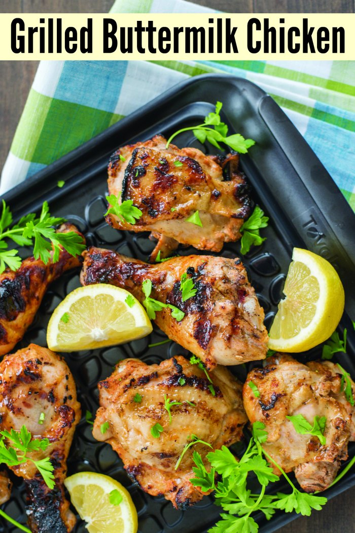 Grilled Buttermilk Chicken | Mommy Evolution #grilling