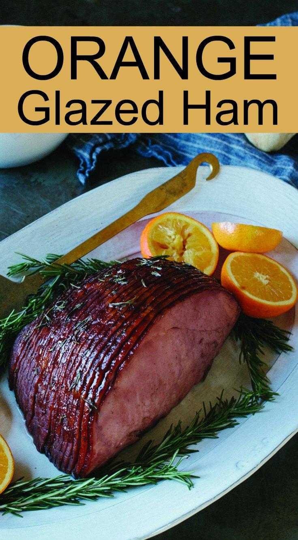 Orange Glazed Ham with a Red Wine Twist