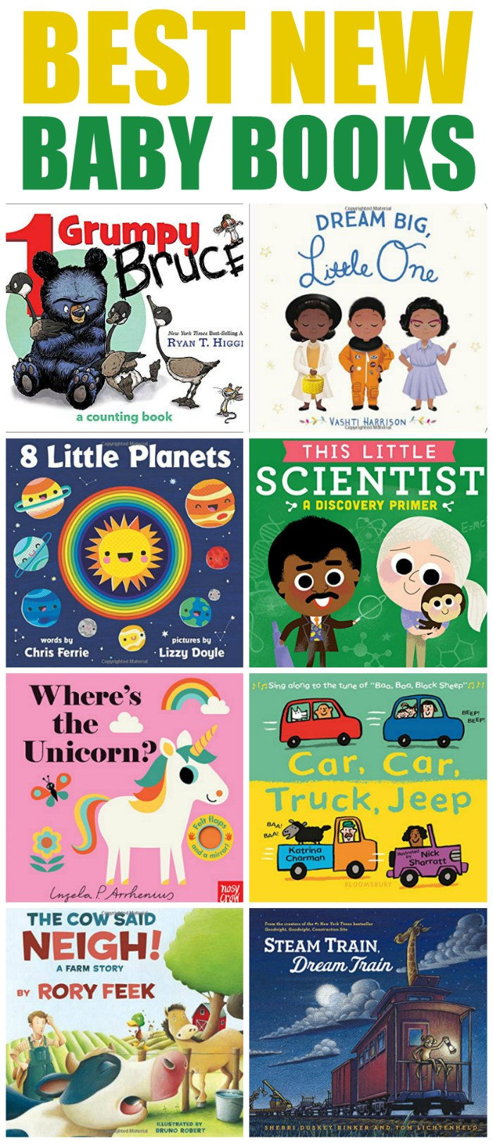 Best new baby books of the year! When it comes to getting your baby or infant interesting in reading, there is nothing like cuddling up with these best new Baby Story Books | Mommy Evolution