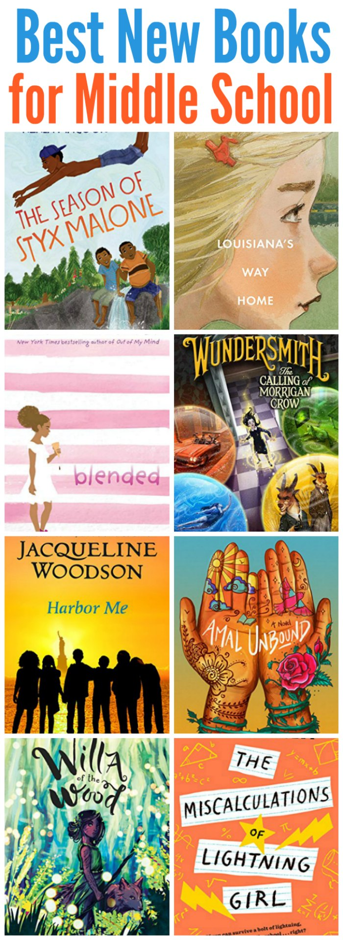 Trying to keep your kids hooked on reading? Or keep up? These best new middle school books of the year are going to hook your readers! | Mommy Evolution #reading #books #middleschool