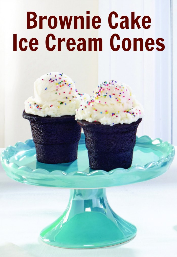 Brownie Cake Ice Cream Cones | Mommy Evolution