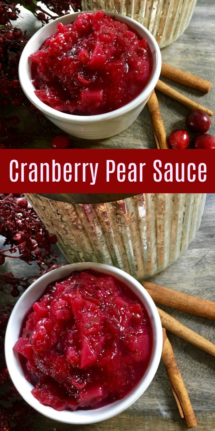 Cranberry Pear Sauce with Rosemary and Ginger - Perfect for Christmas and Thanksgiving dinners | Mommy Evolution