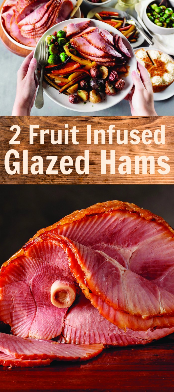 2 Fruit Infused Glazed Ham Recipes - Apricot + Orange and Cranberry. The perfect twist on Easter dinner | Mommy Evolution