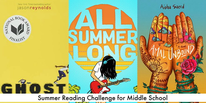 books for middle school readers for the summer - a summer reading challenge!