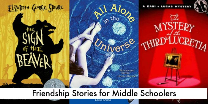 more friendship stories for middle school readers - chapter books