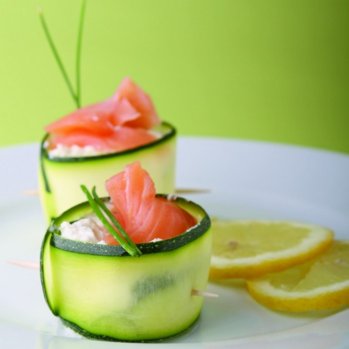 Cream Cheese Salmon Cucumber Appetizer