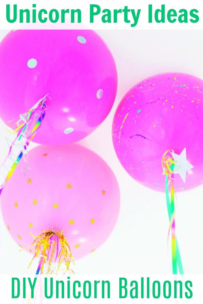Unicorn Birthday Party Ideas + DIY Unicorn Birthday Party Balloons | Mommy Evolution