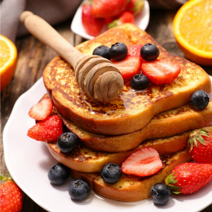 Leches Honey French Toast