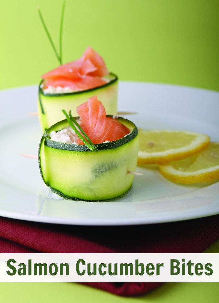 Appetizer Cream Cheese Salmon Cucumber Bites - Atkins Friendly | Mommy Evolution