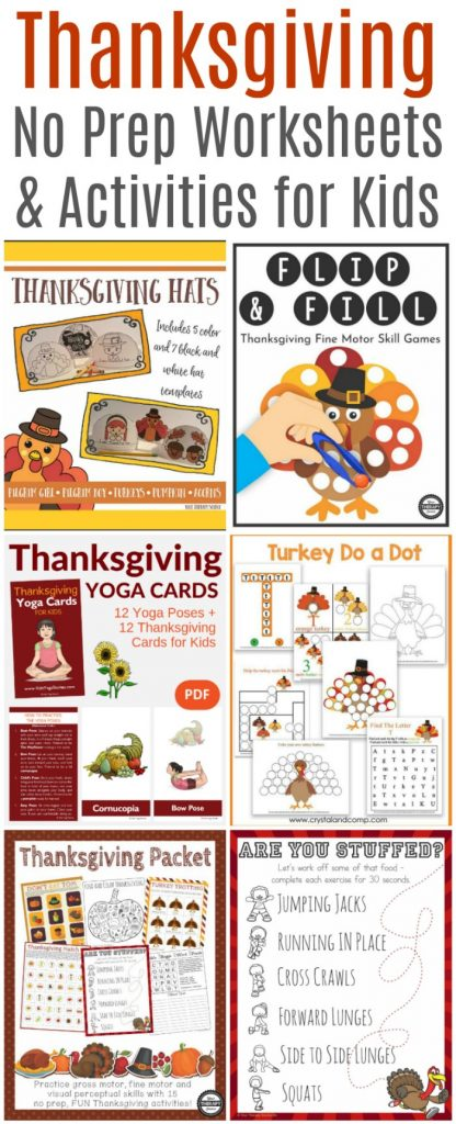 No Prep Sensory Thanksgiving Worksheets and Activities | Mommy Evolution