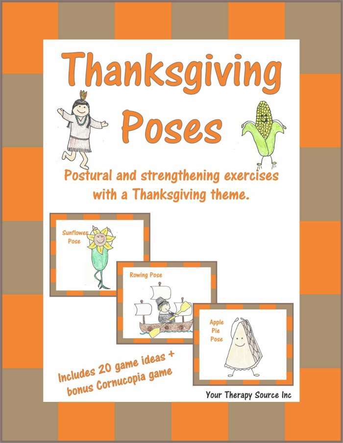 Thanksgiving Poses – Postural and Strengthening Exercises with a Thanksgiving Theme