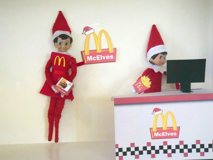 McElves - The Elf Version of McDonalds #elfontheshelf #elfontheshelfideas