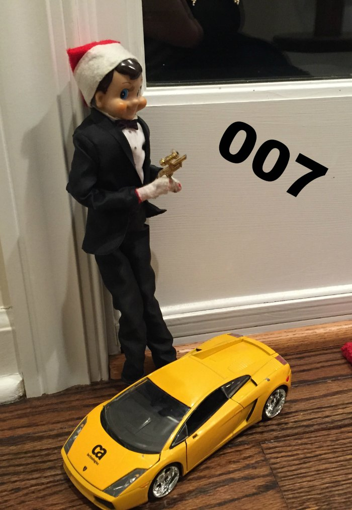 James Bond 007 The Elf is looking extremely dapper in his Tuxedo | Mommy Evolution #elfontheshelfideas #elfontheshelf