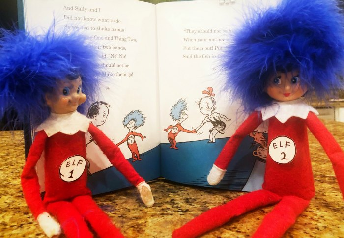 Elf 1 Elf 2 - Dr. Seuss' Thing 1 and Thing 2 have nothing on the Elf on the Shelf! | Mommy Evolution #elfontheshelfideas #elfontheshelf