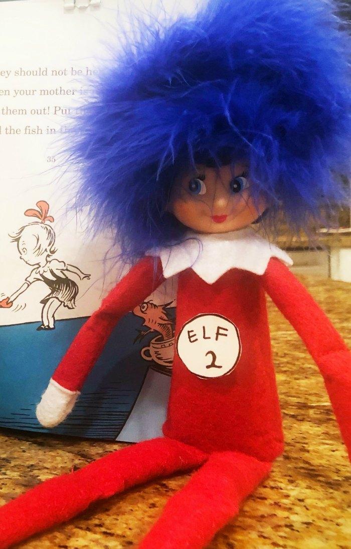 Elf 1 Elf 2 - Dr. Seuss' Thing 1 and Thing 2 have nothing on the Elf on the Shelf!   Mommy Evolution #elfontheshelfideas #elfontheshelf