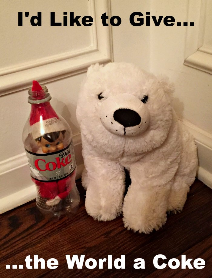 Do you remember this commercial? Coke with a Polar Bar is perfect for the Efl on the Shelf   Mommy Evolution #elfontheshelfideas #elfontheshelf