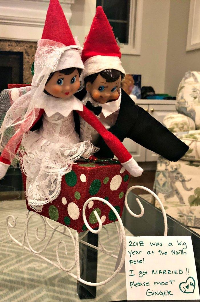 The Elf Gets Married - Elf wedding | Mommy Evolution #elfontheshelfideas #elfontheshelf