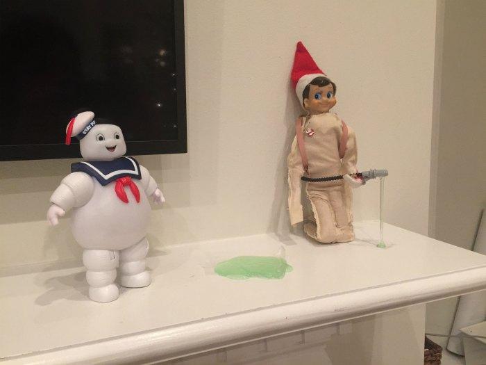 Ghostbusters vs. The Elf on the Shelf | Mommy Evolution #elfontheshelfideas #elfontheshelf