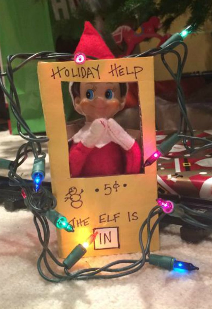 Holiday Help... The Elf on the Shelf is in and ready to help just like the Lucy character from Peanuts. | Mommy Evolution #elfontheshelfideas #elfontheshelf