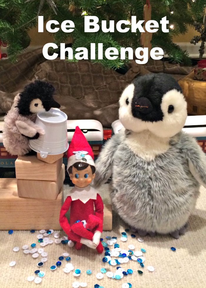 ALS Ice Bucket Challenge | Mommy Evolution #elfontheshelfideas #elfontheshelf