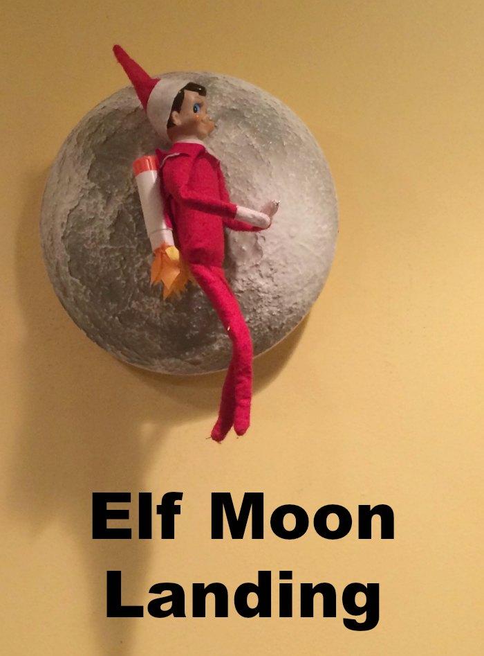 Elf Moon Landing | Mommy Evolution #elfontheshelfideas #elfontheshelf