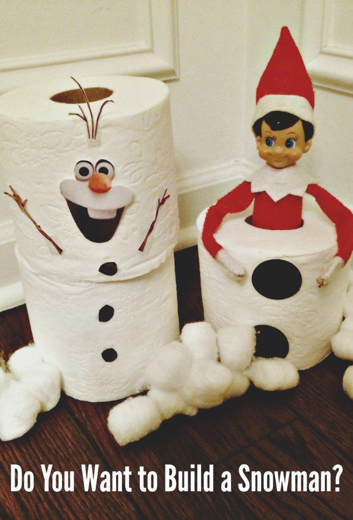 Frozen Movie - Build a Snowman with Elf on the Shelf | Mommy Evolution #elfontheshelfideas #elfontheshelf