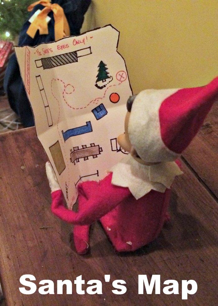Map for Santa from Elf on the Shelf | Mommy Evolution #elfontheshelfideas #elfontheshelf