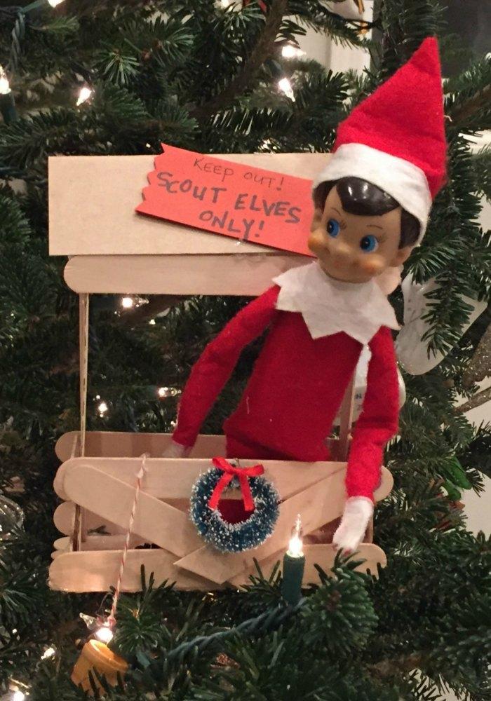 Scout Elves Only - elf on the shelf tree fort | Mommy Evolution #elfontheshelfideas #elfontheshelf