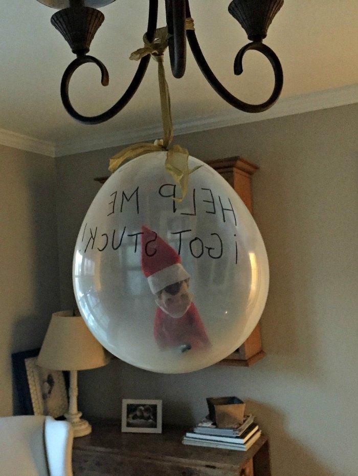 Elf on the Shelf Stuck in a Balloon | Mommy Evolution #elfontheshelfideas #elfontheshelf