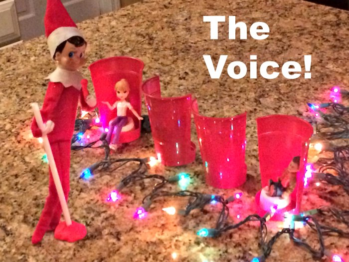 Elf on the Shelf Tries Out for the Voice - | Mommy Evolution #elfontheshelfideas #elfontheshelf