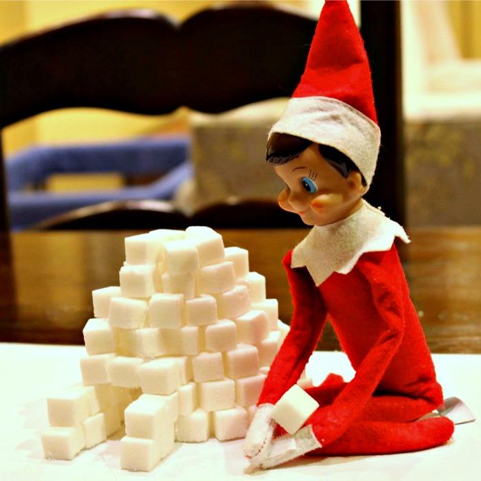 Igloo Elf on the Shelf - build one with sugar cubes | Mommy Evolution #elfontheshelfideas #elfontheshelf