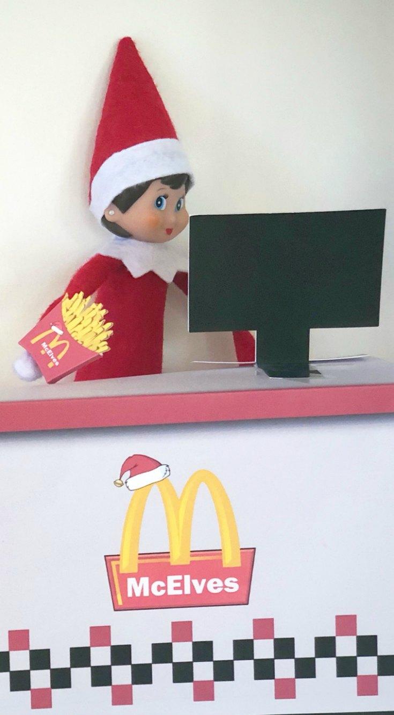 McElves - The Elf Version of McDonalds | Mommy Evolution #elfontheshelfideas #elfontheshelf