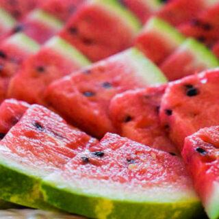sliced watermelon close up